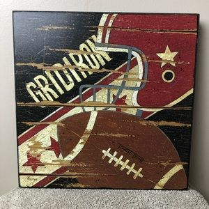 Wall Hanging Picture Football Theme Gridiron